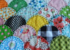 Clamshell quilt tutorial.