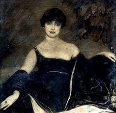 Spanish Art Deco Artist Federico Beltr�n Masses (1885-1949) Portrait of Elegant Woman, 1918