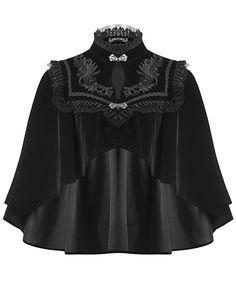 Dark In Love Womens Gothic Cape Shrug Black Velvet Steampunk VTG Victorian Cloak Mode Cyberpunk, Cyberpunk Fashion, Dark Fashion, Gothic Fashion, Steampunk Fashion, Emo Fashion, Gothic Steampunk, Steampunk Clothing, Edwardian Fashion
