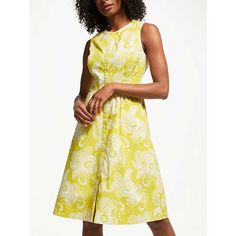 3eac85a75f19 Buy Boden Leila Sleeveless Shirt Dress, Mimosa Yellow from our Women's  Dresses range at John Lewis & Partners.