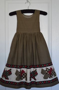 Daisy Kingdom Scottie Dog Dress Girls Size 6 Ready to ship by NancysNeedfulThings on Etsy