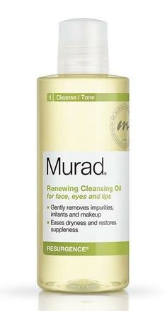 murad renewing cleansing oil. this was one of the first face oils that i used. i liked it to remove my makeup, and i really liked it.