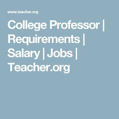 College Professor | Requirements | Salary | Jobs | Teacher.org