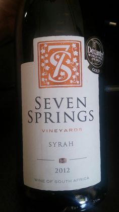 Seven Springs Vineyards Overberg Syrah 2012 90 Points Sommelier Miguel Chan Full tasting notes: www.vivino.com/users/miguel-chan #SouthAfrica #Wine #Syrah #MiguelChan