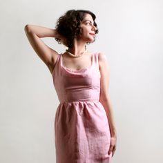 Vintage Wiggle Dress - Cotton Candy Pink 1960s Day Dress - XS. $40.00, via Etsy.