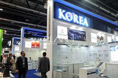 planone Exhibition Booth Design, Exhibition Stands, Exhibit Design, Pavilion, Korea, Booth Ideas, Retail, Group, Country