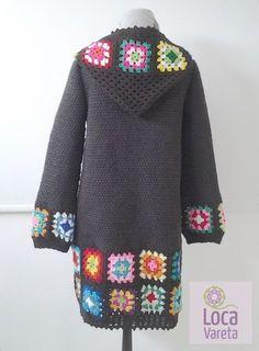 Tapado largo tejido al crochet