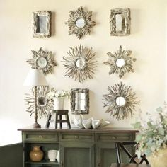 Driftwood mirror collection for wall decor.  Browse Driftwood Decor on Completely Coastal: http://www.completely-coastal.com/search/label/Driftwood%20Decor