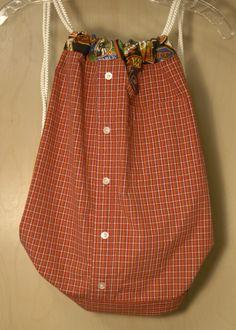 Dress shirt to cinch sack -- tutorial