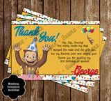 Curious George Show Thank You Card