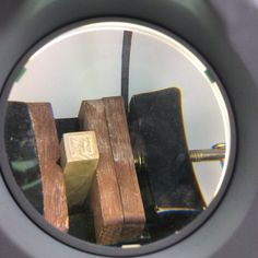 Carving the soapstone block, magnified bc I can't see for crap
