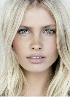 light make up, pretty blonde color