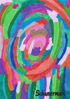 """Rainbow Universe"" -  Original 5"" x 7"" heARTwork by Susan Schanerman"