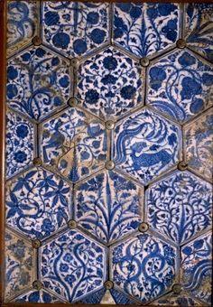 Mismatched Iznik style tiles