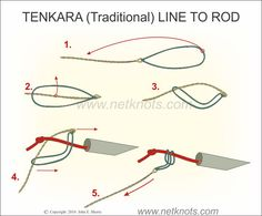 How to attach traditional Tenkara line to a Tenkara fly rod expertly animated, illustrated and described Trout Fishing Tips, Fishing Knots, Fishing Lures, Fly Fishing, Fishing Stuff, Bait Caster, Spinner Bait, Fishing Charters, Fishing Equipment