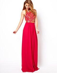 Virgos Lounge Kelly Embellished Maxi Dress with Open Back