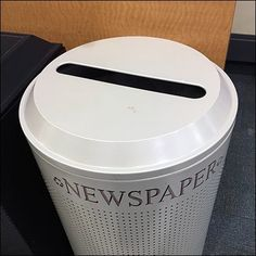 Newspaper Recycling Perforated Disposal Bin – Fixtures Close Up Retail Fixtures, Store Fixtures, Metal Store, Perforated Metal, All Paper, Visual Merchandising, Newspaper, Recycling, Recyle