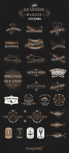 Free vectors of vintage marine logos