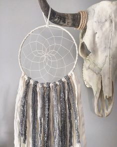 White Dream Catcher Silver Dream Catcher by willowandwanderlust