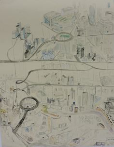 Metropolis sphagetti. Pencil and ink on bockingford. 2014