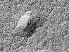 Huge Spirals Found on Mars—Evidence of New Lava Type? | Coils hint that volcanoes, not ice, shaped odd red planet region.