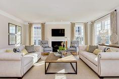 #modelhome #careyfloorplan #livingroom #cream
