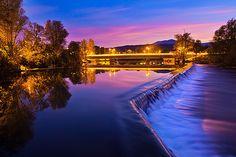 Bridge over the river Krka in Straža #slovenia