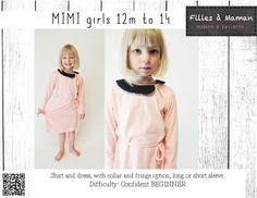 Patron de la robe et du chandail de Mimi par FillesaMaman sur Etsy
