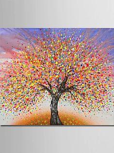 Abstract tree art by Julia Sadeh. Tree Of Life Artwork, Tree Of Life Painting, Abstract Tree Painting, Dot Art Painting, Diy Painting, Abstract Trees, Abstract Art, Painting Trees On Canvas, Tree Paintings