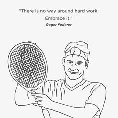 I couldn't draw a series of Wimbledon portraits without the man himself, Roger Federer, who is, for my money, the greatest Wimbledon player of our time #wimbledon #tennis #tennisplayer #rf #rogerfederer #federer #gb #britain #british #uk #swiss #switzerland #london #sport #sports #portrait #illustration #illustrator #art #artist #quote #quotes #inspiration #motivation