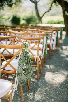 Ranch wedding ceremony decor: http://www.stylemepretty.com/california-weddings/glen-ellen/2016/01/07/glamorous-ranch-wedding-2/ | Photography: The Edges - http://theedgeswed.com/