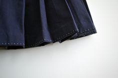 pleated skirt hem embroidery by Minus Sun