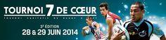 Rugby Tournoi 7 de coeur. Du 28 au 29 juin 2014 à Versailles.