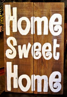 Home Sweet Home Rustic Barn Board Sign by KACountryDecor on Etsy, $30.00