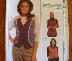McCALLS SEWING PATTERN - 8370 - MISSES 14,16,18 - CREATIVE WOMAN VEST - SHORT/LONG