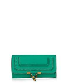 Marcie jade green leather wallet by Chloé on secretsales.com