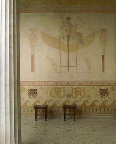 Greek Revival in France. Alessandra Branca for AD: Villa Grecque Kerylos - Beaulieu-sur-Mer - www.villa-kerylos.com