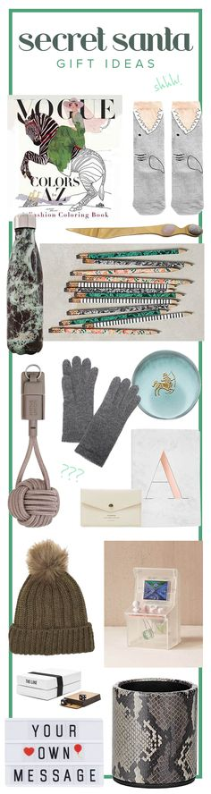 These unique and creative Secret Santa gift ideas are perfect for co-workers, teens, women, guys or friends. There are lots of cheap stocking stuffer ideas too for under $25.