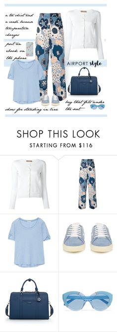 """""""Airport Style"""" by patricia-dimmick ❤ liked on Polyvore featuring Cruciani, Chloé, Splendid, Yves Saint Laurent, Henri Bendel, Karen Walker, Ted Baker and airportstyle"""