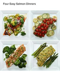 Flur easy salmon dinners: Avocado-lime, tomato zucchini & pesto, honey-soy and parmesan-crusted