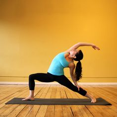 9 Leg-Toning Yoga Poses by fitsugar: 'Dear inner-thigh fluff, so sorry to see you go.' #Yoga #Inner_Thighs