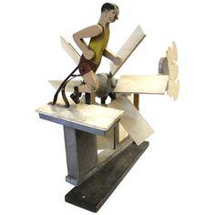 1stdibs.com | Folk Art Running Man Whirligig