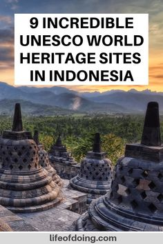 If you're visiting Indonesia, add these 9 incredible UNESCO World Heritage Sites to your Indonesia itinerary. UNESCO World Heritage Sites in Indonesia | Borobudur temple | Prambanan temple | Sumatra rainforest | UNESCO Indonesia | Indonesia bucket list | Indonesia travel guide | Things to do in Indonesia | Beautiful places to visit in Indonesia | What to see in Indonesia #LifeOfDoing #UNESCOWorldHeritage
