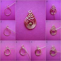 Wire & gemstone pendant.