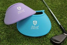 Visors in cotton, expandable spiral cord and   printed logo  #islandgreen #golf #welovegolf #golfapparel