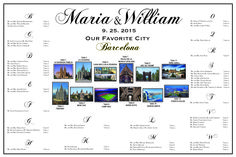 Use travel as a wedding theme -- postcards at your wedding! Use as table numbers --- great idea. Each table was related to a place that the couple loves. Reception Seating Chart, Seating Chart Wedding, Seating Charts, Sports Wedding, Wedding Tables, Travel Themes, Table Numbers, Postcards, Place Cards