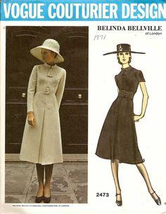VOGUE Couturier Design Belinda Bellville of London Pattern 2473 (1970)