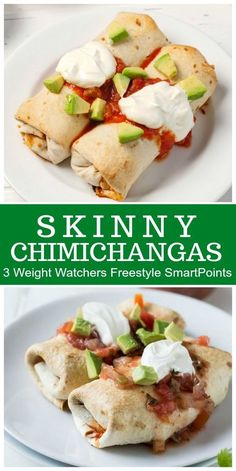 Chimichangas Skinny Chimichangas- baked, not fried! Recipe from :Skinny Chimichangas- baked, not fried! Recipe from : Weight Watcher Dinners, Weight Watchers Snacks, Plats Weight Watchers, Weight Watchers Sides, Weight Watchers Enchiladas, Air Fryer Recipes Weight Watchers, Weight Watchers Meatloaf, Weight Watchers Lasagna, Skinny Recipes