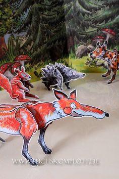 Ferdinand Fox Ferdinand, Handmade Art, Rooster, My Design, Moose Art, Fox, Illustration, Animals, Handmade