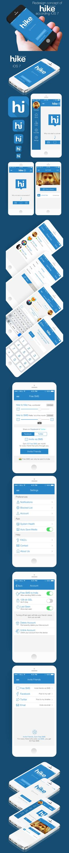 Redesign concept of hike messenger according iOS7